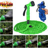 Deluxe 25 50 75 100 FT Expandable Flexible Garden Water Hose w/ Spray Nozzle NS