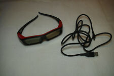 Panasonic Red 3D full HD glasses In Case TY-EW3D2S with Case