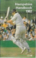Cricket HAMPSHIRE HANDBOOK 1982 Hampshire County Cricket Club Paperback