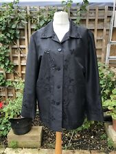SILK LAND EMBROIDERED LONG JACKET COAT   3X (about 20/22)
