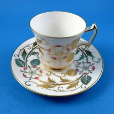 Pink Flower with Gold Leaves Royal Chelsea Tea Cup and Saucer Set