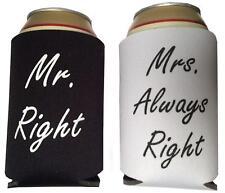 Mr & Mrs Wedding Stubby Holder Beer Bottle Can Cooler Neoprene Sleeves Drink