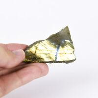 Natural Rough Labradorite feldspar Crystal Specimen 1 polished side 0006