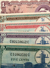 Set Of 5 - US Military Payment Certificates - 5-10-25-50-1 Dollar - Series 681
