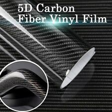 4D Waterproof Carbon Fiber Vinyl Car Wrap Sheet Roll Film Sticker Decal Paper US