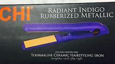 CHI radiant indigo Rubberized Metallic Hair Straightner