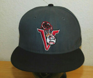 SALEM-KEIZER VOLCANOES MiLB New Era 5950 Dark Gray Black Home Fitted Hat 7 3/8