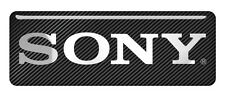 "Sony 2.75""x1"" Chrome Domed Case Badge / Sticker Logo"