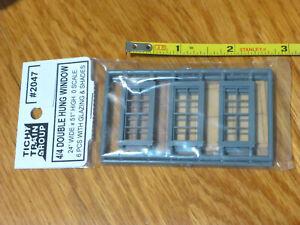Tichy Train Group O Scale #2047 4/4 Double Hung Windows w/Glazing & Shades