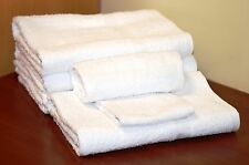 1 Dozen NEW Hand Towels 16x27 100% Cotton White Hotel Motel Resort Barber Facial
