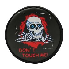 Hot Racing TRXF36117K 5 Inch Skull Don't Touch Me Spare Tire Cover Traxxas TRX-4
