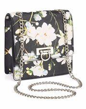 Floral Print Shoulder Bag Mini Black/White/Flower/Printed/Handbag/Party/Club/NEW