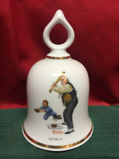Wonderful World of Norman Rockwell Collectible Bell Batter-Up 1979