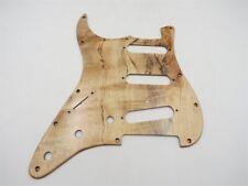 1Pcs left hand solid Spalted Maple wood Strat Guitar Sss Pickguard #13