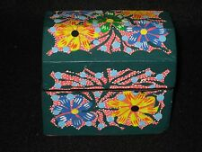Oaxaca Jewelry/Trinket Small Chest Box Hand Painted Signed  Mexican Folk Art