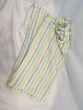 Aden + Anais Striped Muslin Baby Blanket Green Yellow Gray White