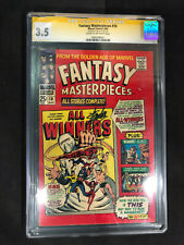 Fantasy Masterpieces #10 (1967) CGC SS 3.5 Signed by Stan Lee