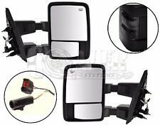Side Towing Mirrors Ford F250 F350 F450 F550 | Smoke Signal | Power | Heated Set