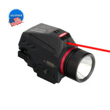 Tactical Led Flashlight and Red Laser Sight Combo 150 Lumens Picatiny Rail Mount