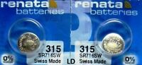 315 RENATA SR716SW (2 piece) Watch Battery Free Shipping Authorized Seller