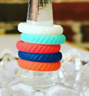 Silicone Wedding Ring Stackable Women Rubber Engagement Band Flexible Braided