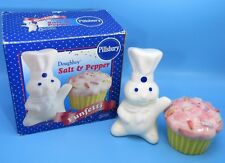 Nmib 2001 Pillsbury Doughboy & CupCake Funfetti Salt & Pepper Shakers Set Rare