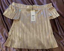 New Woman Ladies Designer Party Next Lipsy  London Off Shoulder Top Size UK 4