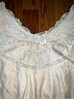 VINTAGE Barbizon Cuddleskin Pink Lace Victorian Grandma Granny Gown S ❤️tb12m22
