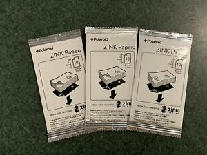 """Polaroid Premium ZINK Photo Paper 2 x 3"""" ~ Pack of 30 Sheets ~ New"""