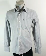 Abercrombie and Fitch mens muscle fit grey striped casual shirt Small