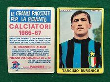 CALCIATORI 1966/67 66/1967 INTER Tarcisio BURGNICH Figurina Sticker Panini (NEW)