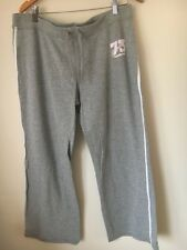 Jogging Bottoms Size 18 Cherokee Grey Activewear Stretch Cotton <T14413