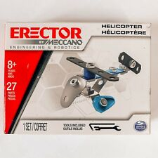 Erector by Meccano Minis Set Of 2 - Helicopter And Bulldozer