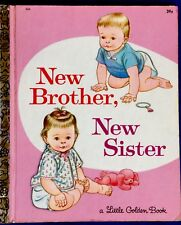 NEW BROTHER, NEW SISTER ~ Joan Esley ~Vintage Children's Little Golden Book