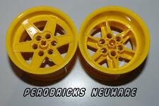 Lego Technic Technik 2x gelbe Felge 6 Loch 56 x 34 #15038 Neu