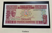 Guinea Guinée 50 francs 1985 Bearded Man P29 Crisp UNC Note