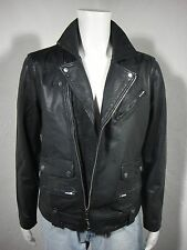 NEW Lucky Brand Titan Leather Moto Jacket Black Label, black, size L