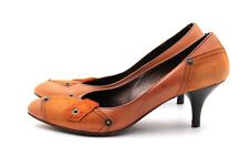 MISS SIXTY Pumps Gr. 38 UK 5 Orange Leder Wildleder Damen Schuhe