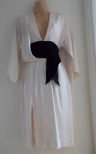 H&M Conscious Exclusive white lyocell kimono dress UK 8 EU 34 US 4
