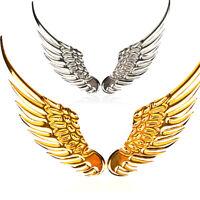1 Pair Universal Car Auto Rear Trunk Emblem Metal Angel Wings Hawk Sticker Badge