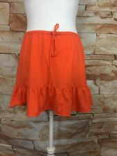 J.Crew Soft Cotton Skirt Womens Medium Orange Trumpet Hem Mini Skirt NWT