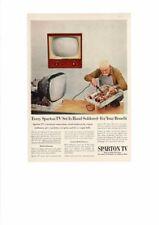 VINTAGE 1948 SPARTON TELEVISION TV SETS HAND SOLDERED REPAIR CRAFTSMAN AD PRINTI