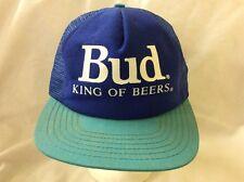 trucker hat baseball cap Bud King Of Beers retro vintage rave rare nice SnapBack