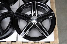15 4x100 4x114.3 Black Wheels Fits Accord Altima Cabrio Civic Smart Fortwo Rims