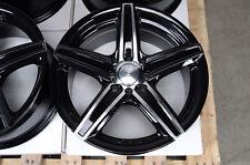 15 4x100 4x114.3 Black Wheels Fits Accord Altima Cabrio Civic Smart Fortwo Rims