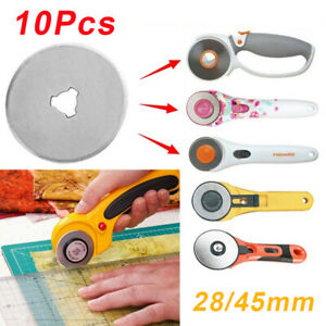 10 Rotary Cutter Replacement Blade Roller Cutter Blade Sewing Cutting 28mm 45mm.
