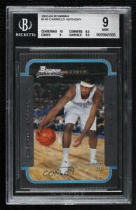 2003-04 Bowman Rookies Carmelo Anthony #140 BGS 9 MINT Rookie RC