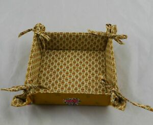 """PIERRE DEUX FRENCH COUNTRY PROVENCE FABRIC BASKET BOX 7"""" x 7"""""""