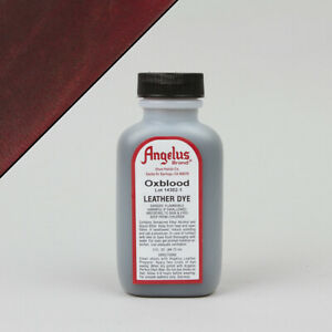Angelus OXBLOOD LEATHER DYE 3oz Bottle Industry Strength Dye Vibrant Colors