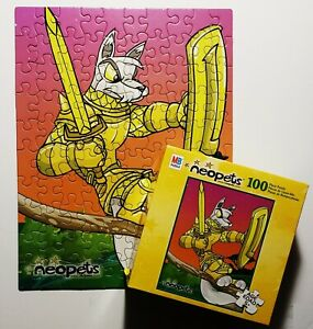 Vintage 2003 Neopets 100-Piece Puzzle *Complete in Box* Lupe Milton Bradley RARE